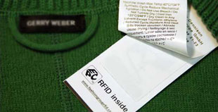 Soluzioni RFid nell'etichetta del vestito