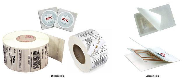etichette e tag rfid in carta e pvc