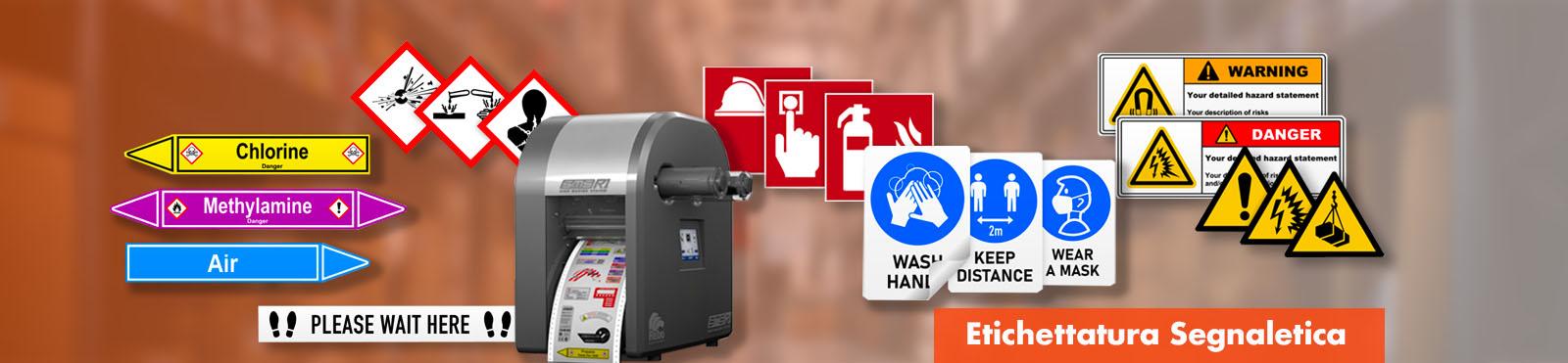Stampa etichettatura segnaletica e cartelli segnalatori