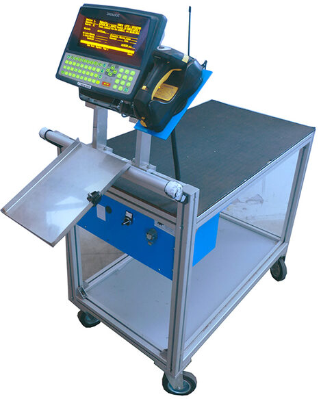 carrelli picking scanning barcode con terminale mobile computing