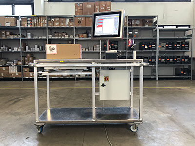 Carrelli per la pesatura mobile e scanning prodotti